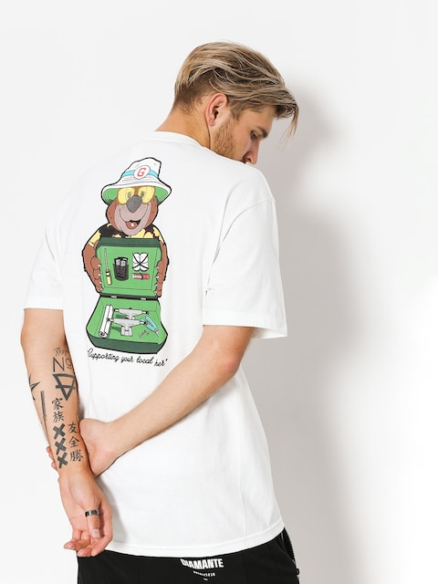 T-shirt Grizzly Griptape Bear & Loathing (white)