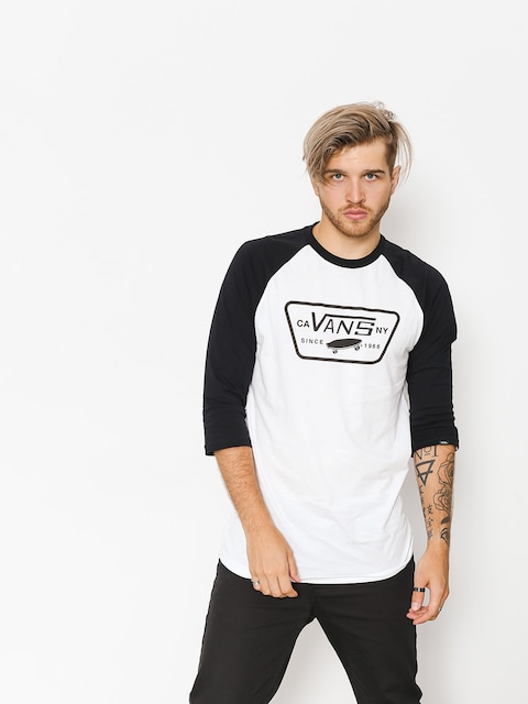 Koszulka Vans Full Patch Raglan 3/4 (white/black to)