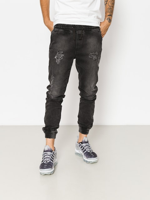Spodnie Diamante Wear Rm Jeans Jogger (ripped black jeans)