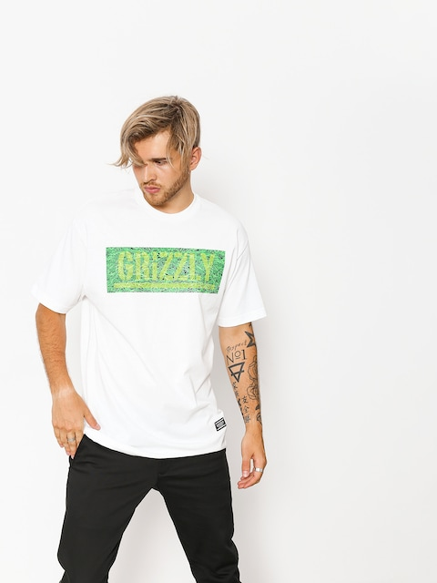 T-shirt Grizzly Griptape Fresh Cut Box Logo (white)