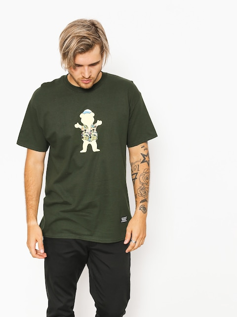 T-shirt Grizzly Griptape Whibig Kahuna Og Bear (forest green)