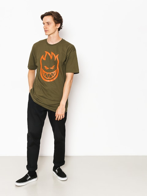 T-shirt Spitfire Cvrt Bghd (military green/orange)