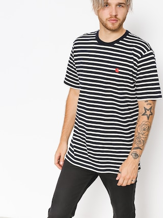 T-shirt Carhartt WIP Roble (roble stripe/dark navy/wax)