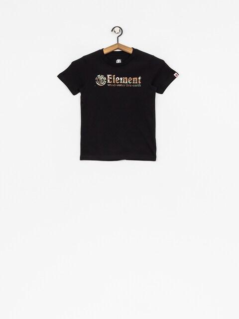 Dziecięcy T-shirt Element Horizontal Fill (flint black)