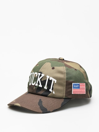 Czapka z daszkiem HUF Fuck It Big Cv 6 Panel (woodland camo)