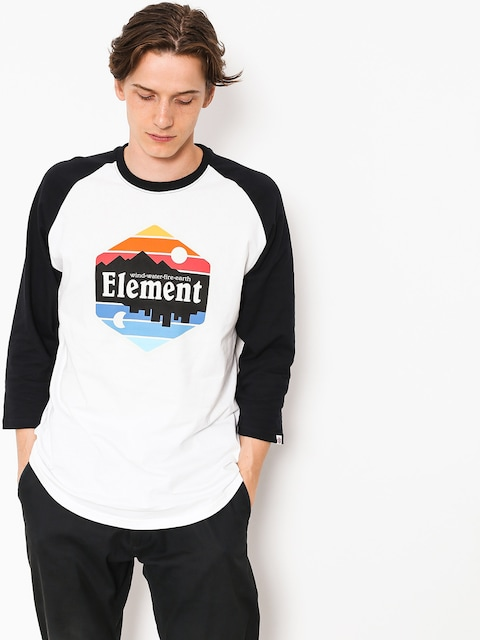 Koszulka Element Dusk Raglan Qtr (optic white)