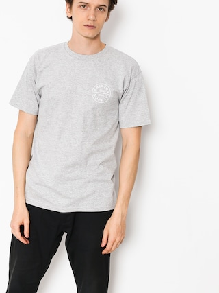 T-shirt Brixton Oath (heather grey/white)