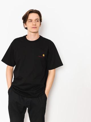 T-shirt Carhartt WIP American Script (black)