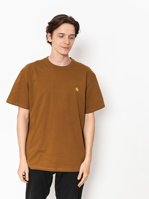 T-shirt Carhartt WIP Chase (hamilton brown/gold)