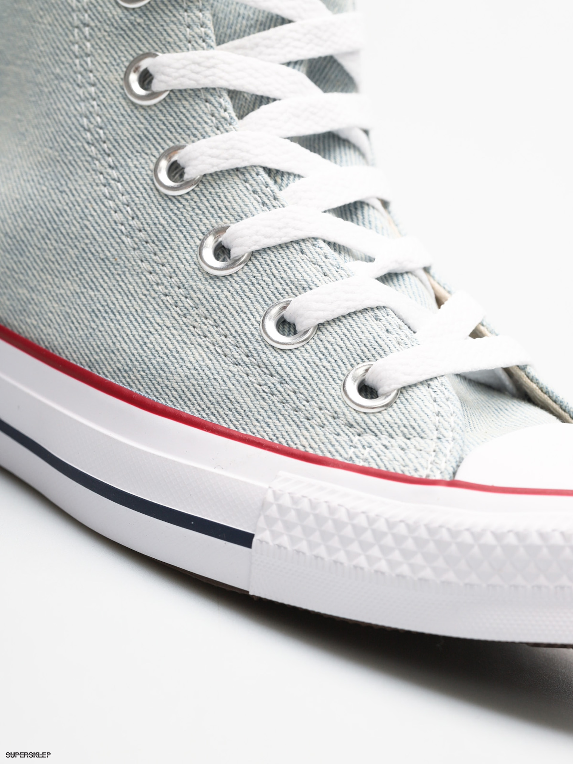 9a497757657821 Trampki Converse Chuck Taylor All Star Hi (light blue white brown)