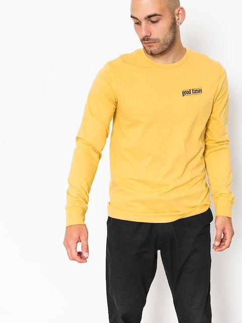 Longsleeve Brixton Time Prem (washed yellow)