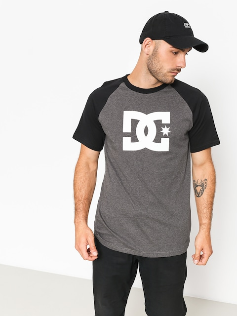 T-shirt DC Star Raglan (black/charcoal heather)