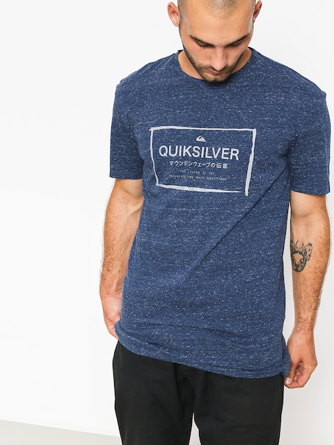 T-shirt Quiksilver Quik In The Box (medieval blue heathe)