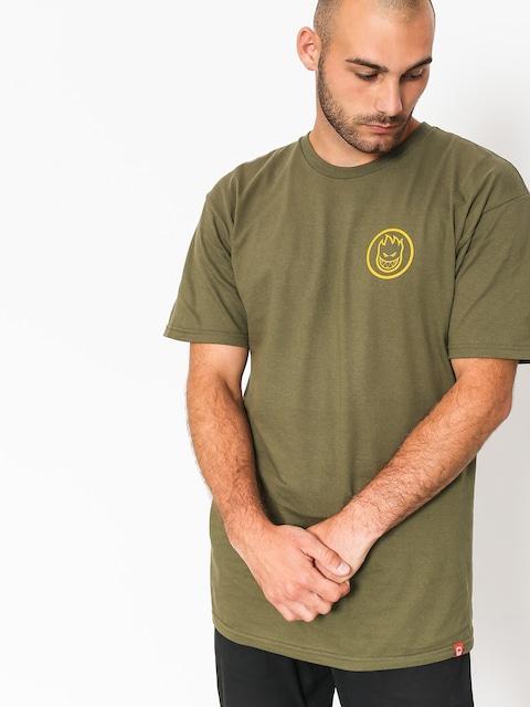 T-shirt Spitfire Classic Swirl (military green/yellow)
