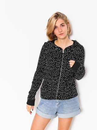 Bluza z kapturem Roxy Trippin Printed HD Wmn (true black dots for)