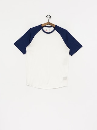 T-shirt Brixton Basic Baseball (off white/cobalt)