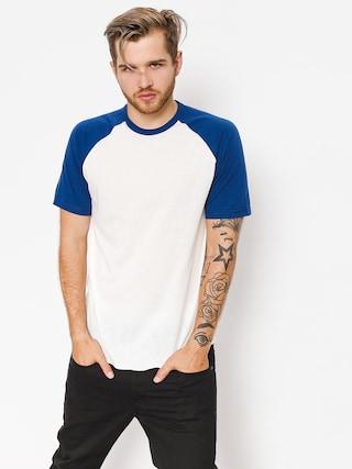 T-shirt Brixton Basic Baseball (off white/cobalt)