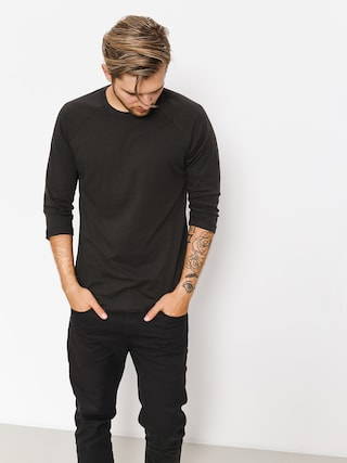 Koszulka Brixton Basic 3I4 Baseball (washed black)
