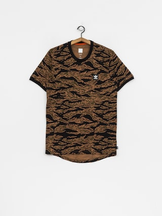 T-shirt adidas Camo Aop (camo print/black/collegiate orange)