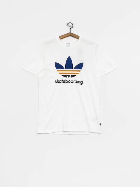 T-shirt adidas Clima 3.0 (white/collegiate royal/tactile yellow)