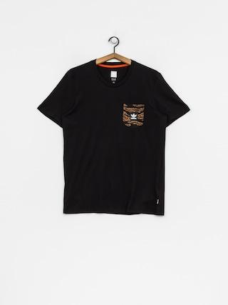 T-shirt adidas Cmo Pckt (black/camo print/collegiate orange)