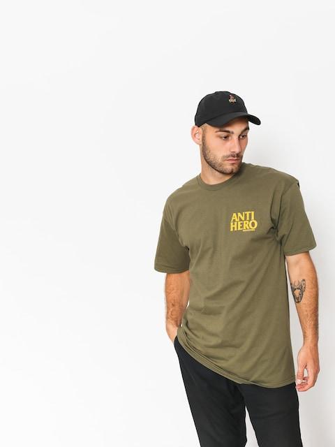 T-shirt Antihero Lil Blckhro (military green/yellow)
