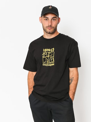T-shirt Krooked Kd Ultra (black/yellow)