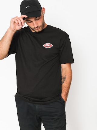 T-shirt Real Small Oval (black/red)
