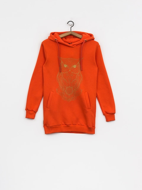 Bluza z kapturem Majesty Owl Lady HD Wmn (orange)