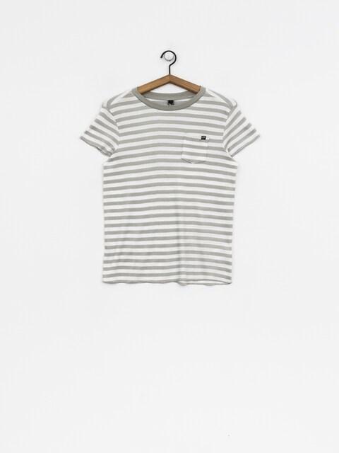T-shirt Fox Striped Out Wmn (wht)