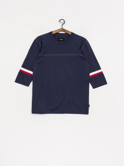 T-shirt Brixton Johan 3/4 Slv (washed navy)