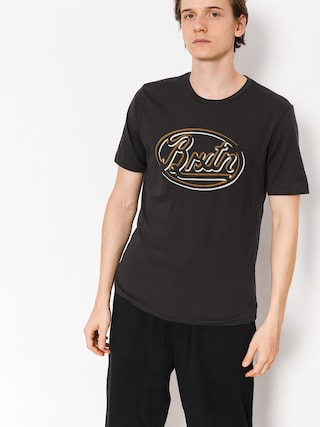 T-shirt Brixton Lowell Prem (washed black)