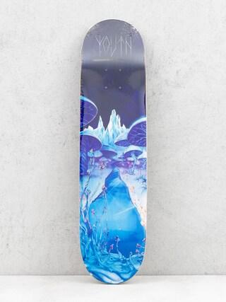 Deck Youth Skateboards Mushrooms (blue/black)
