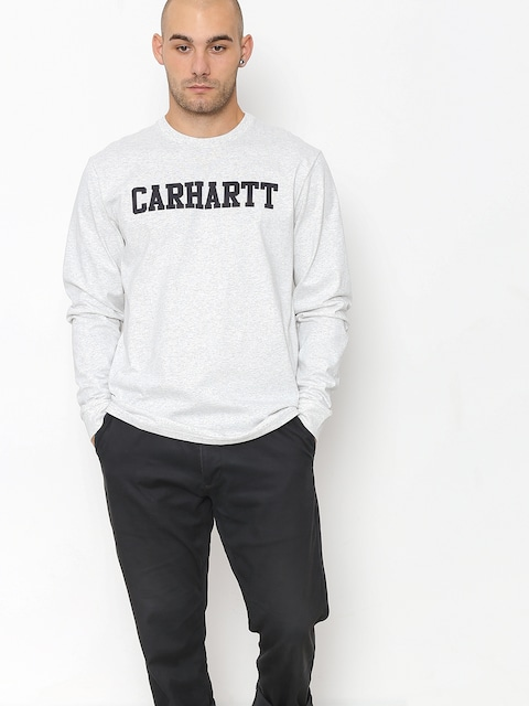 Longsleeve Carhartt WIP College (ash heather/dark navy)