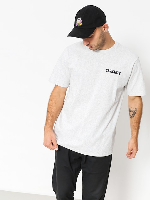 T-shirt Carhartt WIP College Script (ash heather/dark navy)
