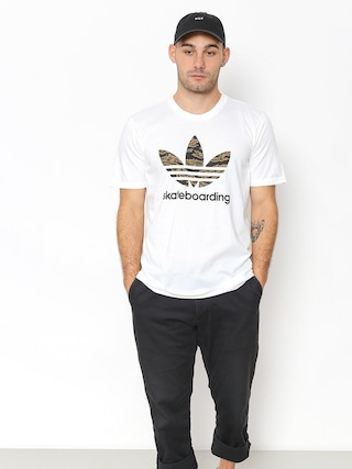 T-shirt adidas Cmo 3.0 (white/camo print/collegiate orange)