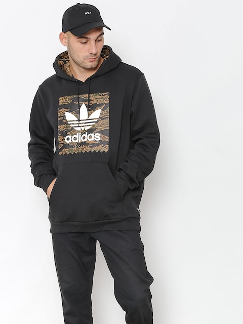 Bluza z kapturem adidas Camo Bb HD (black/camo print/collegiate orange)