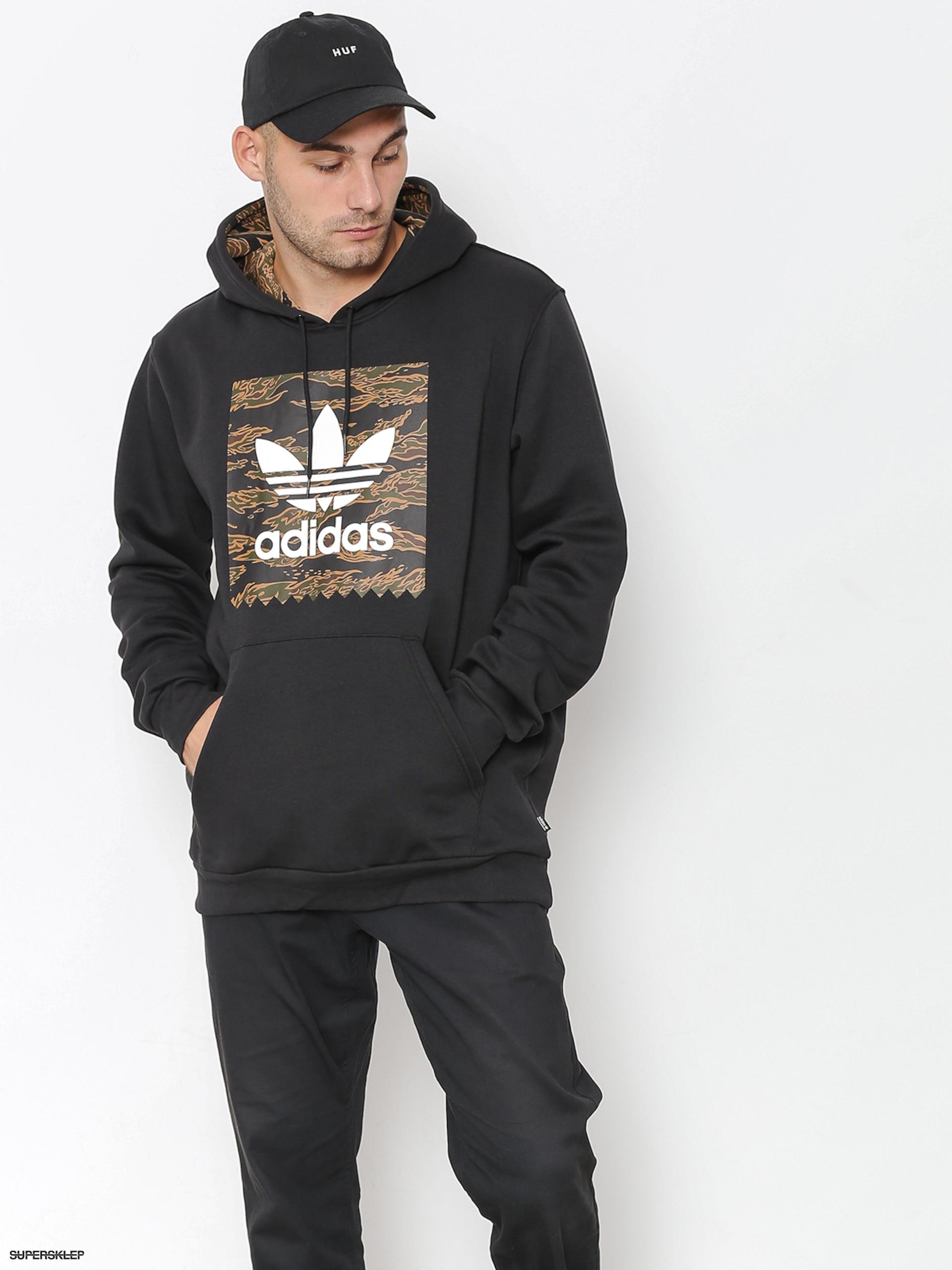 super jakość Wielka wyprzedaż najlepszy wybór Bluza z kapturem adidas Camo Bb HD (black/camo print/collegiate orange)