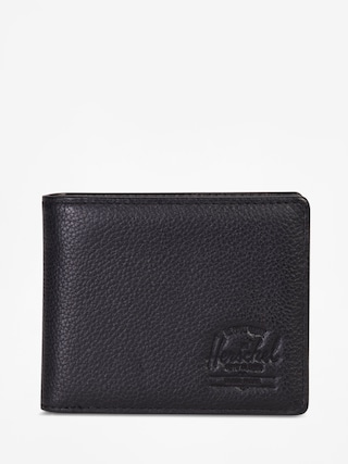 Portfel Herschel Supply Co. Hank Coin Leather Rfid (black pebbled leather)