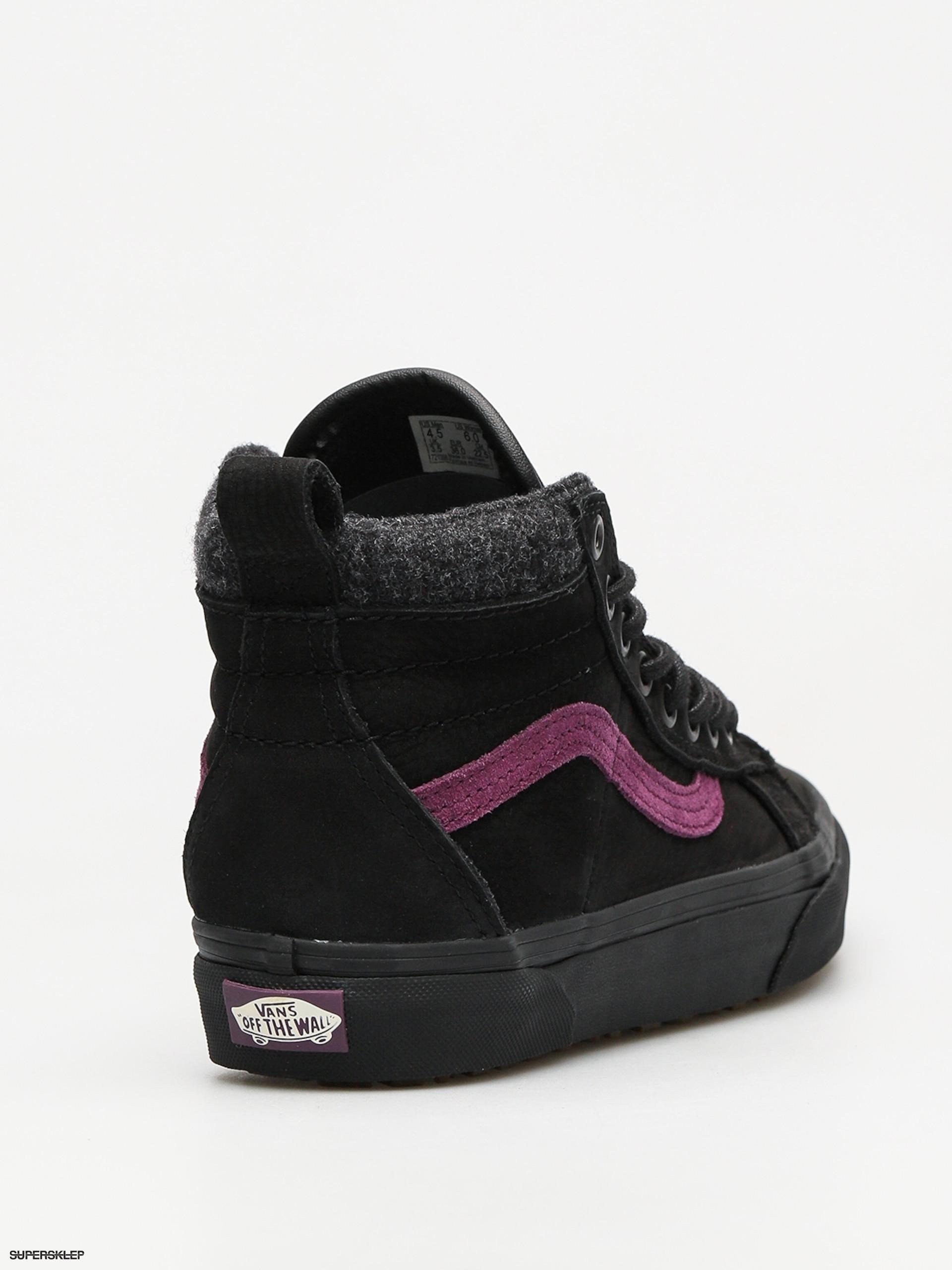 buty vans ski 8 black purple
