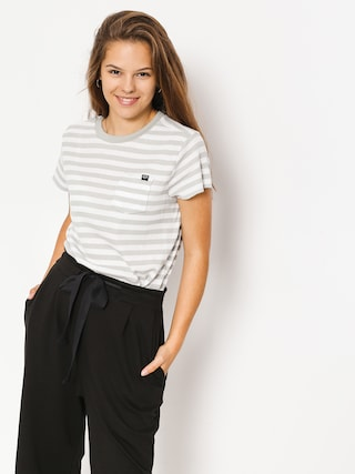 T-shirt Fox Striped Out Wmn (wht)