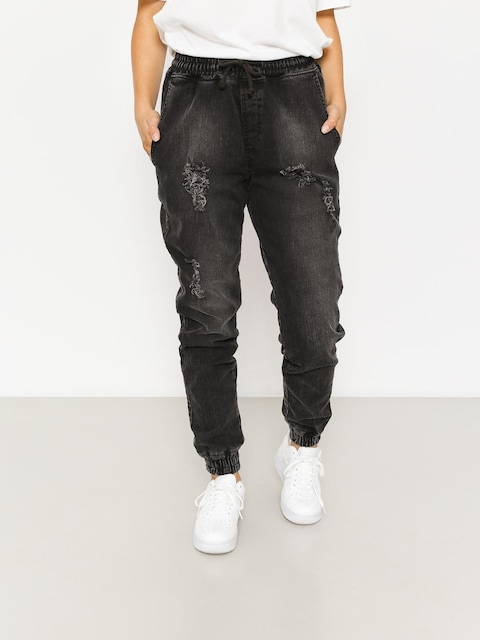 Spodnie Diamante Wear Rm Jeans Jogger Wmn (ripped black jeans)