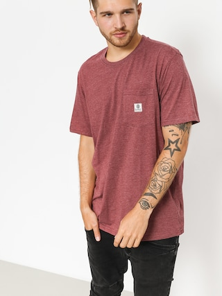 T-shirt Element Basic Pocket Label (oxblood heather)