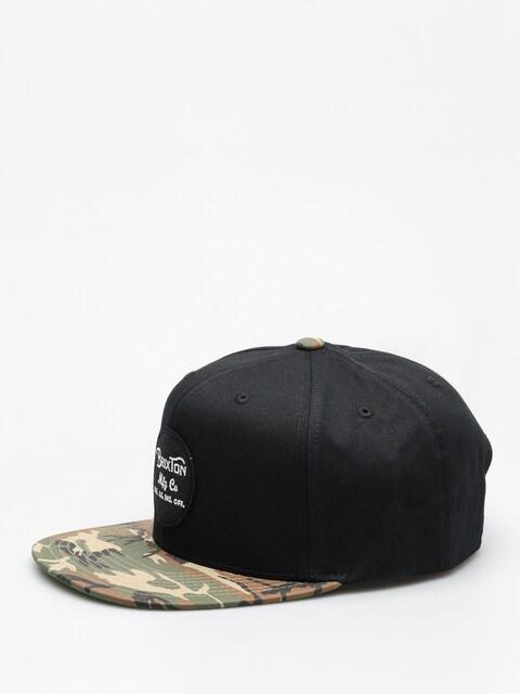Czapka z daszkiem Brixton Wheeler Snapback ZD (black/camo)