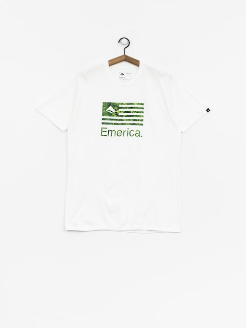 T-shirt Emerica Pure Flag (white/green)