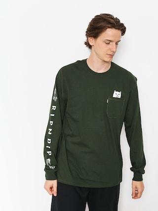 Longsleeve RipNDip Lord Nermal Pocket (hunter green)