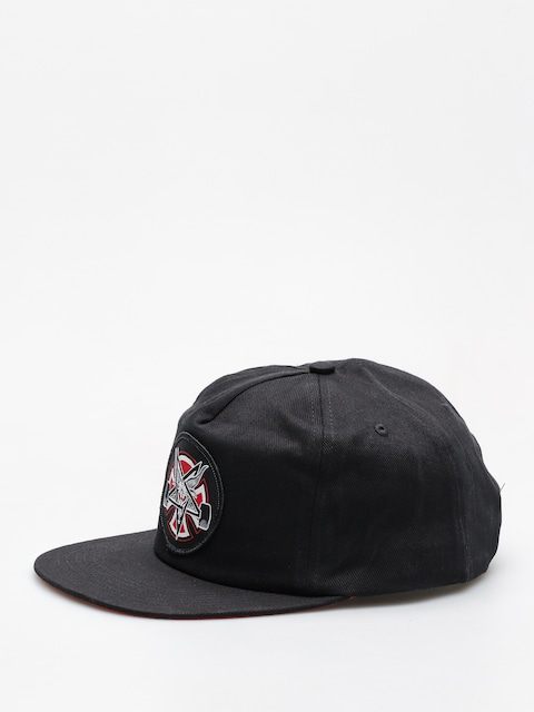 Czapka z daszkiem Independent x Thrasher Pentagram Cross Adj Snapback ZD (black)
