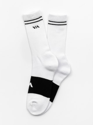 Skarpetki RVCA Basic Block (white w black)