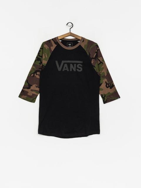 T-shirt Vans Classic Raglan (black/camo)
