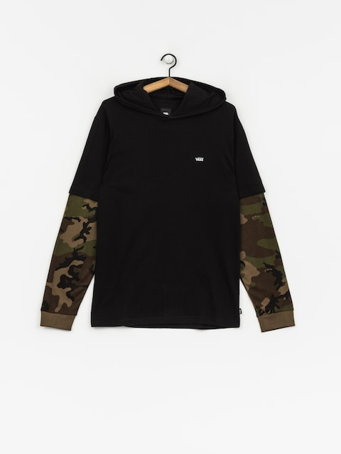 Longsleeve Vans Woodland Hooded Two Fer (black/camo)
